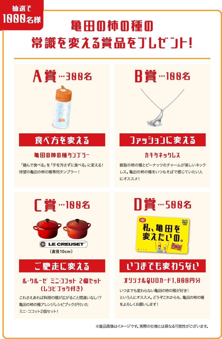 亀田の柿の種の常識を変える賞品をプレゼント!